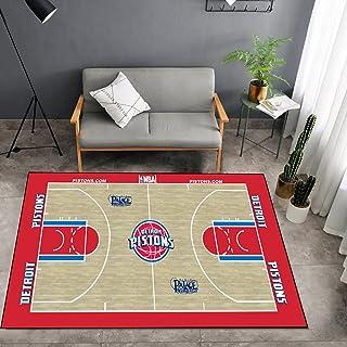 Tritow USA NBA Basketball Tapis NBA Pistons Salon Tapis antidérapant Facile à Nettoyer Tapis de Zone d'impression 3D Tapis...