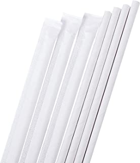 Biodegradable White Paper Drinking Straws - Dye-Free, Eco-Friendly Straws - Bulk Paper Straws also Great for Party Supplies, Decorations, Weddings and Birthdays 100 PCS