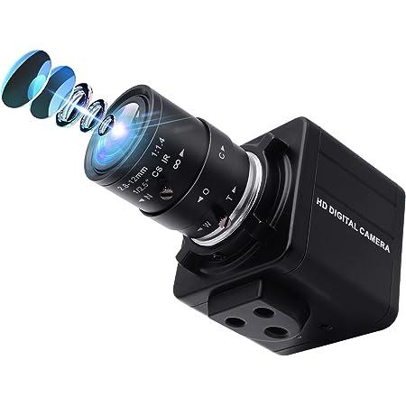 ELP バリフォーカルレンズ USB ウェブカメラ フルHD 1080P 30FPSカメラ 200万画素 高速480P 100FPS カメラ 2.8-12mmズーム カメラ プラグ&プレイ/無料ドライバー 動画配信 家庭会議 ゲーム実況 授業カメラ 対応Windows/Android/Mac バリフォーカルウェブカメラ(モデル:ELP-USBFHD01M-SFV 2.8-12mm-JP)