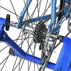Relaxdays, convierte bicicleta común a estática, Mide: 54 x 46 x 20 cm, Azul, Unisex-Adult, 1 Ud