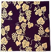 風呂敷 ふろしき 紫 緑 葡萄 三巾 105cm リバーシブル 綿 日本製