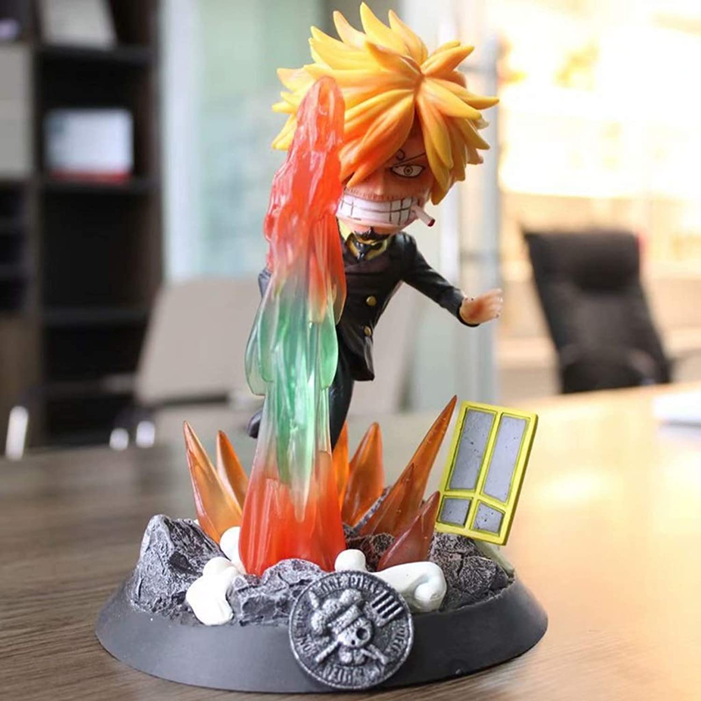 popular SHWSM Modelo Modelo Modelo de Anime One Piece, Estatua de colección de Juguetes de PVC for Niños, Estatua de Juguete Decorativa de Escritorio Modelo de Juguete, PT Sanji (20 cm)  venta con alto descuento