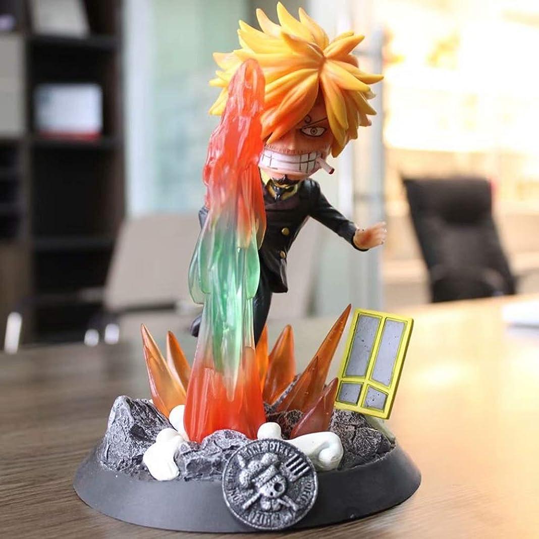 生命体レルムデクリメントアニメワンピースモデル、PVC子供のおもちゃコレクション像、デスクトップ装飾玩具像玩具モデル、PTサンジ(20cm) JSFQ