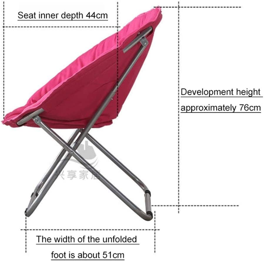 Chaise Longues Salon Chambre Jardin Salon Chaise amovible en peluche Coussin siège Lune Chaise soucoupe ronde Heavy Duty plage Chaise Sofa (Color : A) F