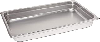 Winco 2.5-Inch Deep Full-Size Anti-Jamming Steam Table Pan, 25 Gauge, NSF