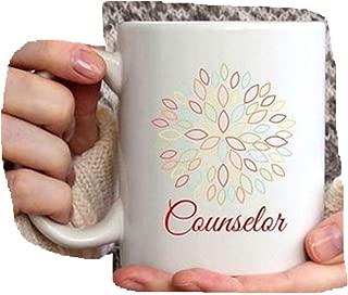 Counselor Appreciation Week Gift Idea School Counselor Mug with Flower, School Counselor Coffee Cup, Christmas Gift for School Counselor Mug