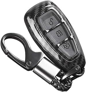 Carrfan Carbon Remote Key Fob Hülle für Fords/Focus/Fiesta/Kuga/C Max