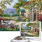 Cuteefun Puzzles para Adultos Puzzle 1000 Piezas Jardín Primavera Puzzle Paisaje para Niños Descompresión y Regalo