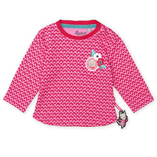 Sigikid Baby - Mädchen Langarmshirt Langarmshirt,, per pack Rosa (pink 686), 98 (Herstellergröße: 98)