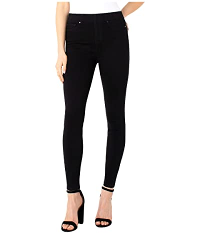 Liverpool Chloe Pull-On Ankle Leggings in Black Rinse (Black Rinse) Women