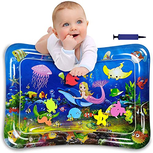 Alfombra Inflable Infantil,Alfombra Inflable con Agua para Bebes,Cojín de Agua Inflable Bebé,Cojín de Agua Inflable para Niños,Alfombra de Juego de Agua,Esterilla de Agua Bebe (B)