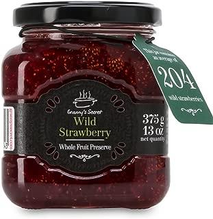Granny's Secret Preserves, Wild Strawberry, 375 Gram (Pack of 6)