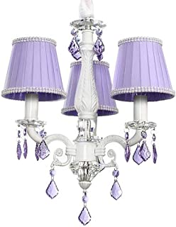 Charlotte 3-Light Crystal Chandelier - Purple, 3-Light