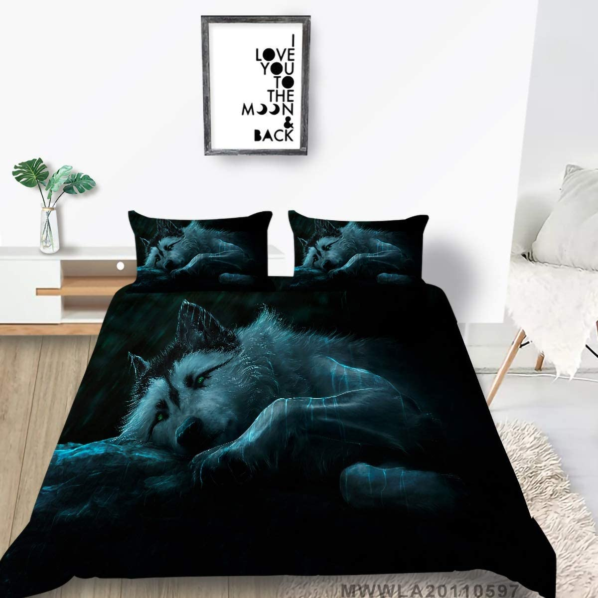 List price Outstanding GYF Bedding Set for Kids Cool Print Fashionable Wolf Duvet 3D Co