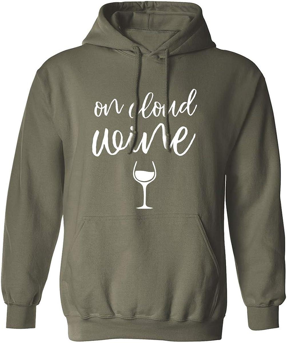 On Cloud Wine Adult Hooded Sweatshirt