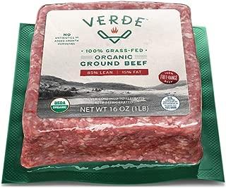 Verde Farms Organic 100% Grass-Fed Ground Beef 85/15, 1 lb