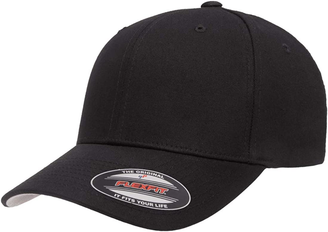 Flexfit 2-Pack Premium Original Cotton Twill Fitted Hat w//THP No Sweat Headliner Bundle Pack