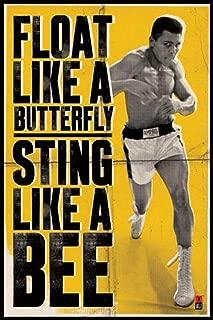 Pyramid America Muhammad Ali Float Like a Butterfly Sports Cool Wall Decor Art Print Poster 24x36