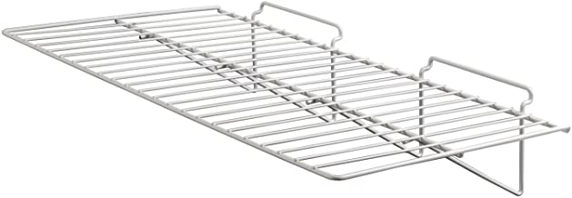 """Econoco Commercial Straight Shelf for Slant Wall, 24"""" Width x 12"""" Depth, White (Pack of 6)"""