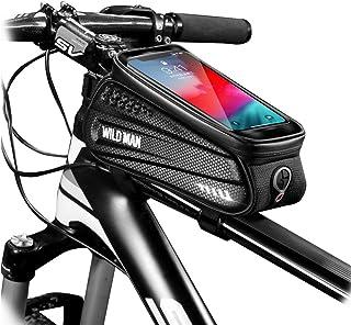 WILD MAN Bike Bicycle Bag, Waterproof Bike Phone Mount...