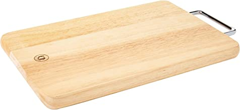 Dolphin Collection RB606 Wooden Chopping Board With Stainless Steel Handle Brown 8.5Inches X 14Inches X 0.75Inches