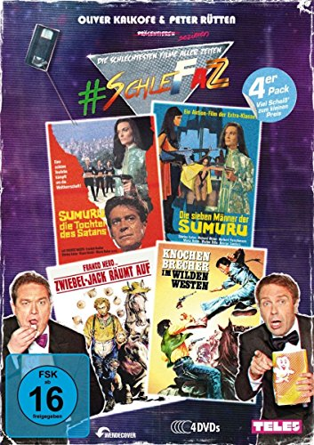 #SchleFaZ - Value Pack: Sumuru - Tochter des Satans/7 Männer der Sumuru/Zwiebel-Jack räumt auf/Mann m.d.Kugelpeitsche (4 DVDs)