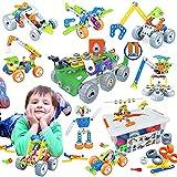 Gxi 175 Teile STEM Kinderspielzeug Bausatz - Konstruktionsspielzeug - Bausteine für Kinder Ingenieurbausatz - Pädagogisches Lernspielzeug für Jungen und...