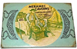 Vintage Meramec Caverns Souvenir Advertising Pocket Mirror - Stanton, Missouri