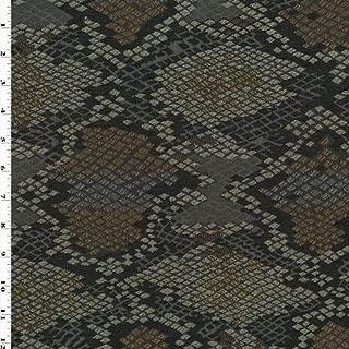 Black/Multi Luzon Onyx Snakeskin Jacquard Decorating Fabric, Fabric by The Yard