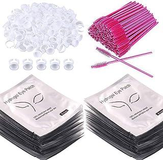 3x100pcs Under Eye Pads Lint Free Lash Extension Eye Gel Patches, Eyelash Mascara Brushes Wands Applicator Makeup Brush,Na...