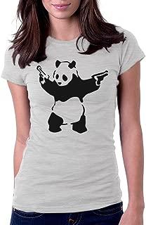 Women's Banksy Panda with Guns Tee T-Shirt