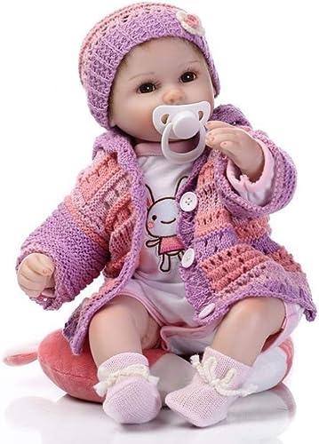 FHSGG Reborn Babypuppen 42 cm Real Life Weißhe Silikon Vinyl Lebensechte Spielzeug Geschenk Realistische Puppen