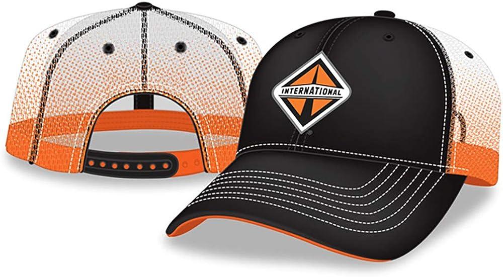 BD International Trucks Black & Orange Gradient Screen Print Mesh Snapback Cap/Hat