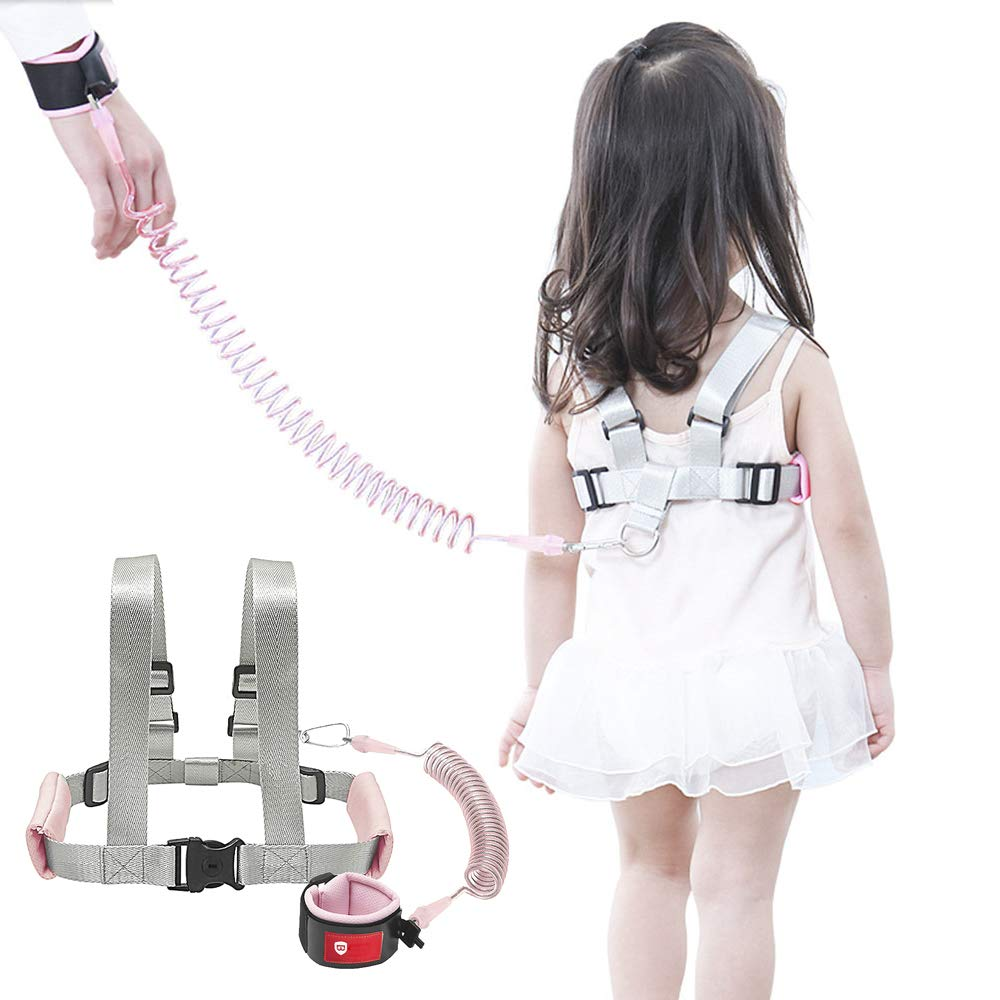OFUN Toddler Leash for Walking, Anti Lost Wrist Leash for Child Safety, Toddler Safety Harness Leash, Kids Leash Harness for Girls 6.6ft, Pink