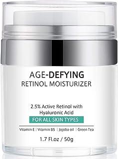 Retinol Cream for Face, Anti-Aging Face Moisturizer Cream with Retinol, Jojoba Oil, Hyaluronic Acid, Wrinkle Cream for Nec...