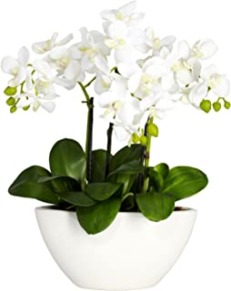 Nearly Natural 4804 15in. Phalaenopsis Silk Flower Arrangement