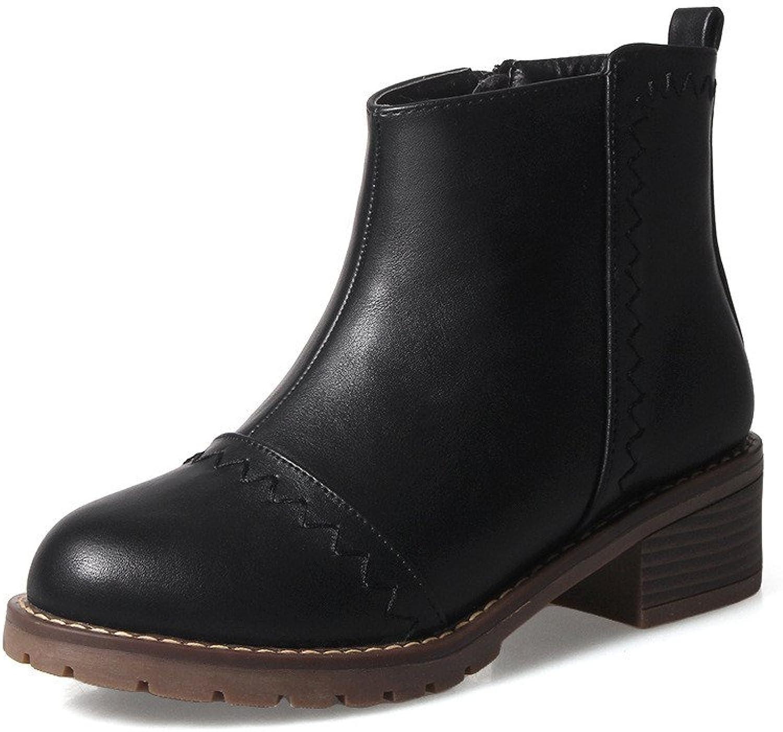 shoesmaker's heart Medium Heel Short Boots Cashmere Warm Women's shoes New Winter and Winter Boots Heel and Heel