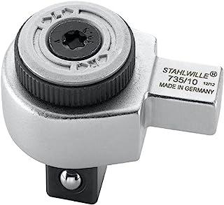 """Stahlwille 735/10""""735"""" klucz nasadowy z grzechotką, srebrny/czarny, 1/2"""" - 9 x 12 mm"""