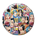 BESTWAY 43264 Colchoneta Hinchable Pop Art Comic Redonda, 188 cm