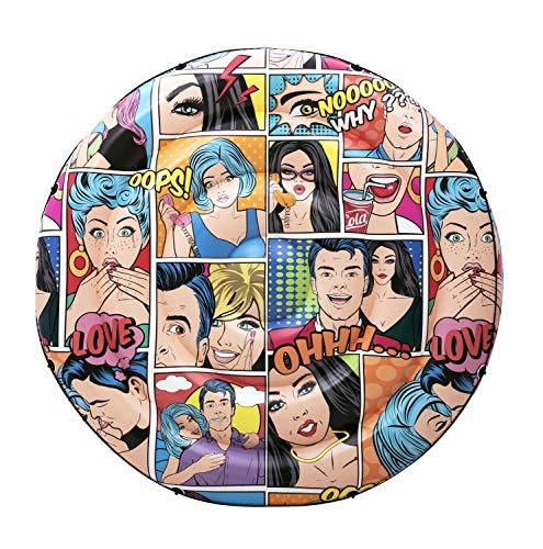 BESTWAY 43264 Colchoneta Hinchable Pop Art Comic Redonda, 188 cm