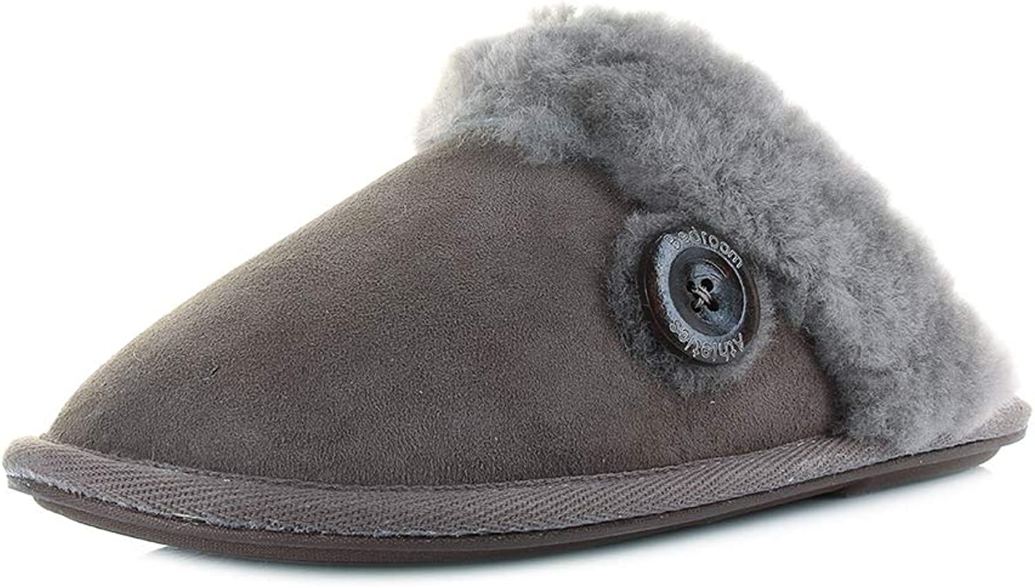 Bedroom Athletics Womens Molly Double Faced Sheepskin Mule
