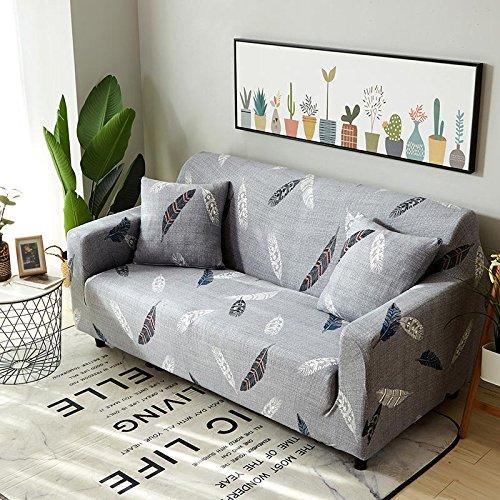 ASCV Funda de sofá Tight Wrap Stretch Funda de sofá Toalla de sofá para Muebles Sillón Sofá seccional Estilo L Fundas A17 Funda de cojín x2
