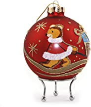 The Christmas Cart Personalised Red Christmas Bear with Cart Bauble | Customised Christmas Tree Decoration | Christmas Orn...