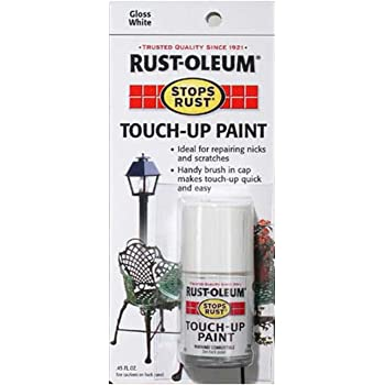 Rust-Oleum 215058 Stops Rust Gloss Touch-Up Paint, White, 0.45 Ounce