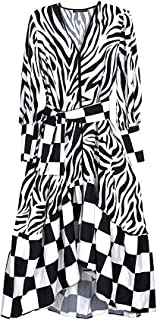 Black and White Domino Dress with Belt