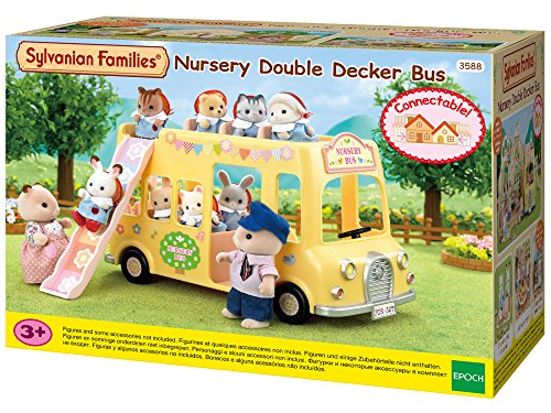 SYLVANIAN FAMILIES- Nursery Double Decker Bus Mini Muñecas y Accesorios, Multicolor (Epoch para Imaginar 5275)