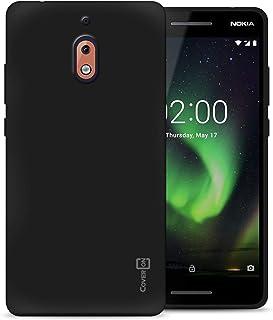 CoverON [FlexGuard Series] Nokia 2.1 Case, Nokia 2.1 2018 Case, Slim Fit TPU Phone Cover with Anti-Slip Grips and Corner Shock Padding for Nokia 2.1 / Nokia 2.1 (2018) Black J616-CO-NK22018-TPU1-BK