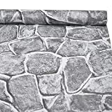 3D Stone Wallpaper, H2MTOOL Removable Self...