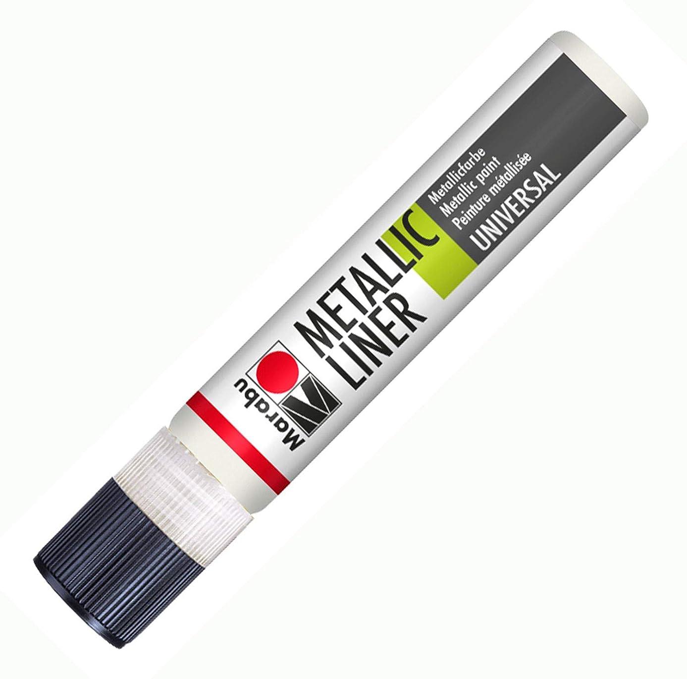 Marabu-metallic Liner 25ml Metallic- White