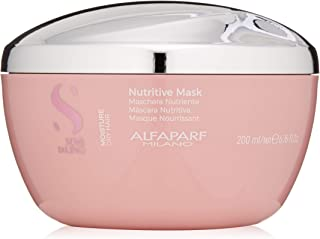 Alfaparf Milano Semi Di Lino Moisture Nutritive Mask for Dry Hair - Safe on Color Treated Hair - Sulfate, Paraben and Paraffin Free - Professional Salon Quality